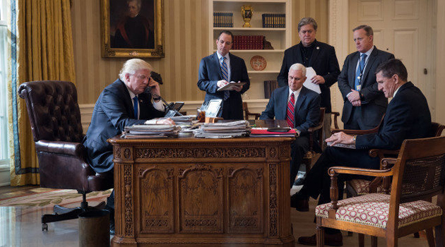 Liderazgo político mientras Trump mira televisión y tuitea…