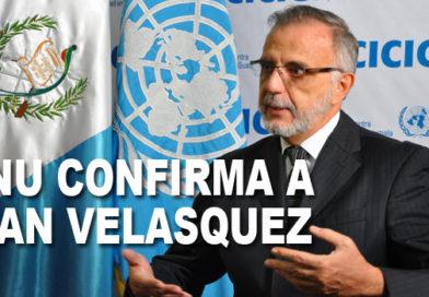 ONU: IVÁN VELÁSQUEZ SIGUE AL FRENTE DE CICIG